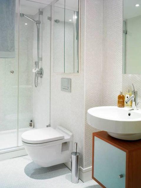 BANHEIRO BRANCO 40 Projetos e Dicas Sensacionais! -> Banheiro Pequeno E Clean