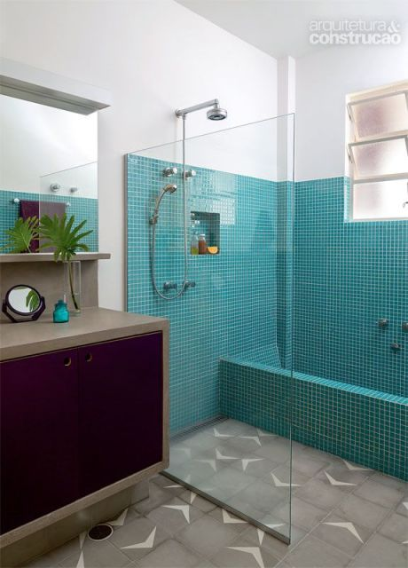 Banheiros com Banheiras 50 fotos e projetos maravilhosos! -> Banheiro Com Banheira Dimensões
