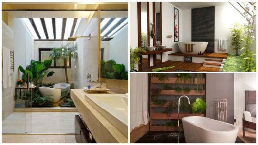 Banheiros com Banheiras 50 fotos e projetos maravilhosos! -> Banheiro Com Banheira Planta