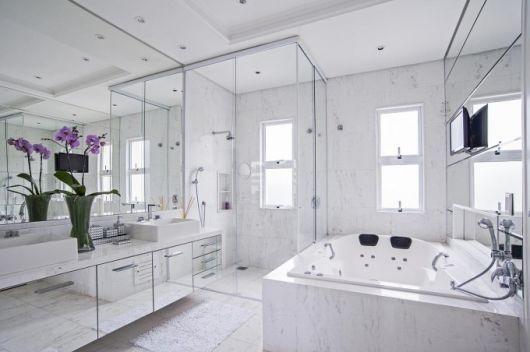 BANHEIROS DE LUXO 30 fotos imperdíveis! -> Banheiro Com Banheira Dwg