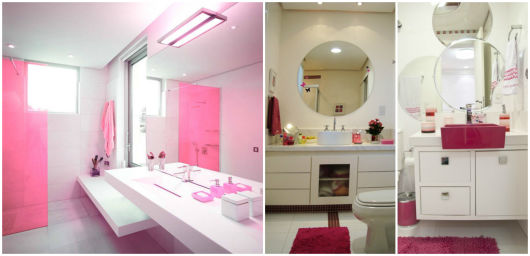 BANHEIRO ROSA DECORADO fotos e inspirações! -> Banheiro Pequeno Decorado Rosa