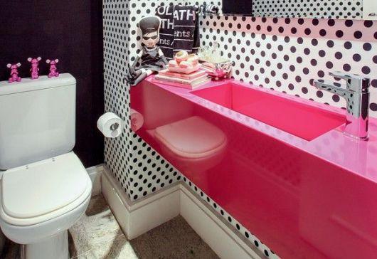 BANHEIRO ROSA DECORADO fotos e inspirações! -> Cuba Para Banheiro Rosa