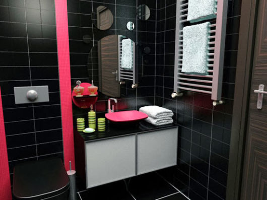 BANHEIRO ROSA DECORADO fotos e inspirações! -> Cuba Para Banheiro Roxa