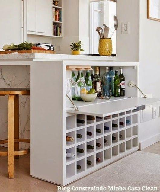 Bar em casa como fazer e ideias para decorar for Bar para cocina