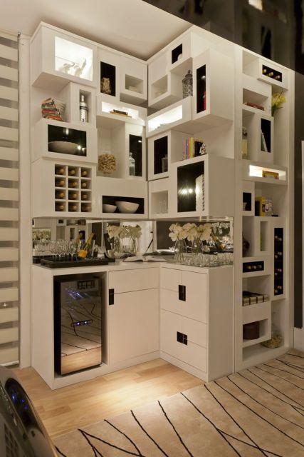 Bar em casa como fazer e ideias para decorar - Armarios para sala de estar ...
