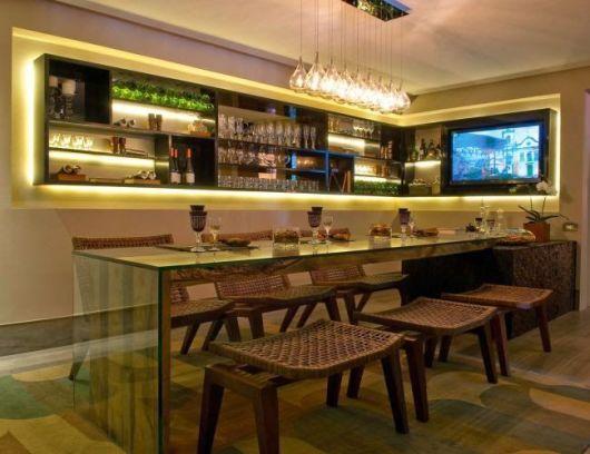 Bar em casa como fazer e ideias para decorar for Bar para casa rustico