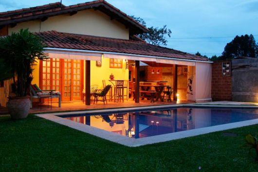 Casas com piscinas projetos e fotos - Piscinas casa de campo ...