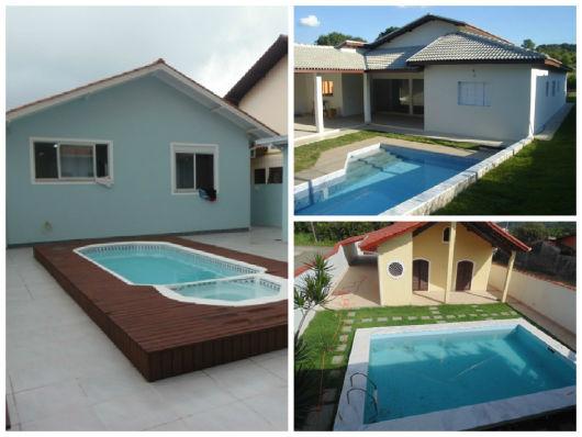 Casas com piscinas projetos e fotos for Piscina 3d