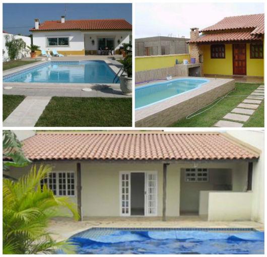 50 casas com piscina projetos dicas e fotos for Ver modelos de piscinas