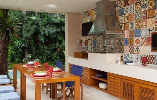 parede azulejo hidráulico