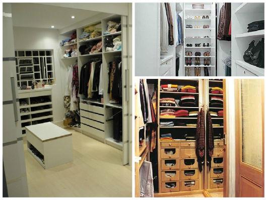 Closet feminino projetos e modelos for Modelos closets para dormitorios