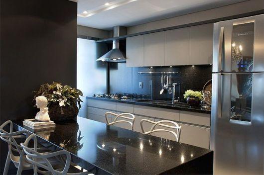 COZINHA CINZA combinações e inspirações! # Armario De Cozinha Cinza E Branco
