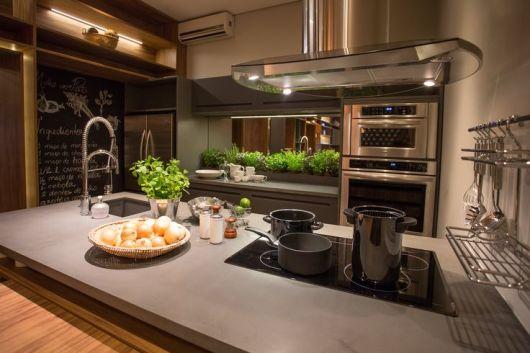 vasos hortaliças cozinha