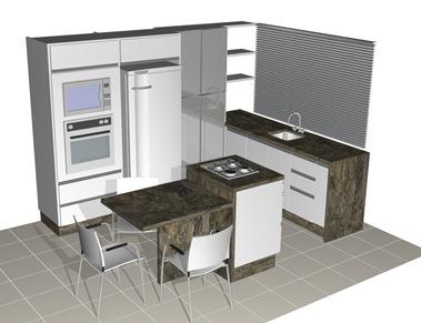 Cozinha em l projetos e fotos - Cocinas muy baratas ...