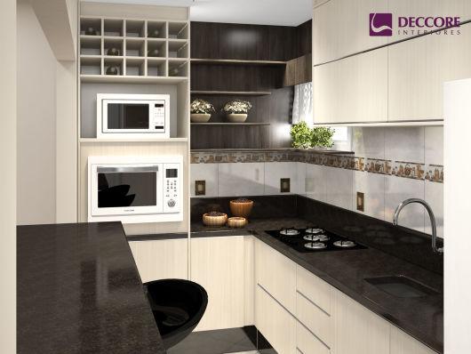 COZINHA EM L projetos e fotos! # Cozinha Pequena Em L