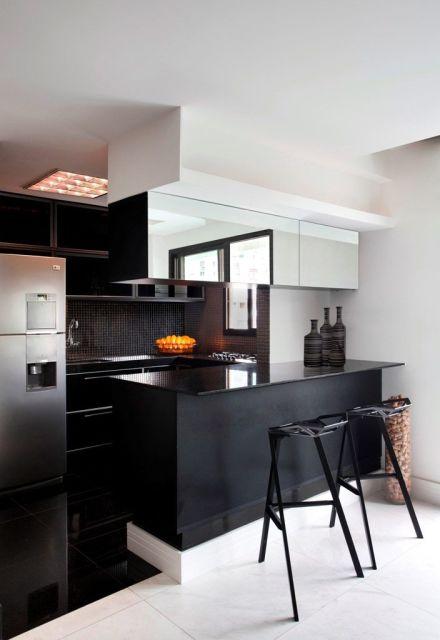 Armario Superior Cozinha Profundidade ~ COZINHAS MODERNAS 65 fotos e projetos!