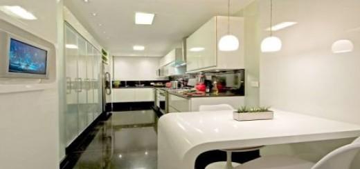 cozinha com televisão