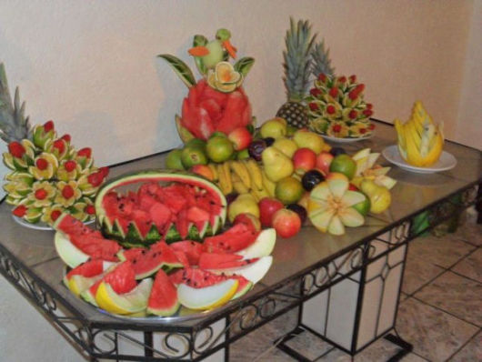 DECORA u00c7ÃO ANO NOVO E RÉVEILLON 40 fotos e ideias! -> Decorar Frutas Simples