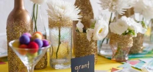 garrafas com flores
