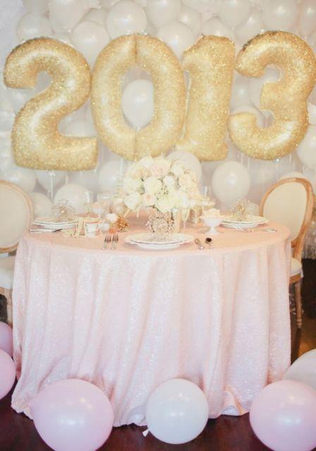 DECORA u00c7ÃO ANO NOVO E RÉVEILLON 40 fotos e ideias! -> Decoração De Ano Novo Simples E Barata