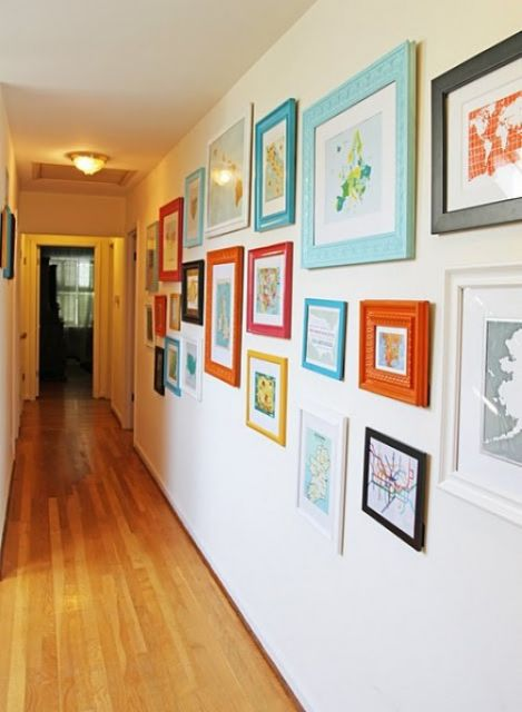 molduras coloridas parede