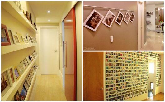 parede com fotos