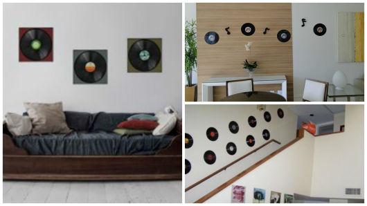 discos na parede