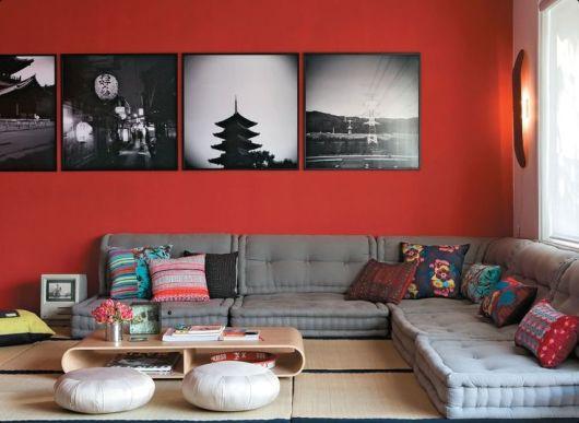 parede vermelha