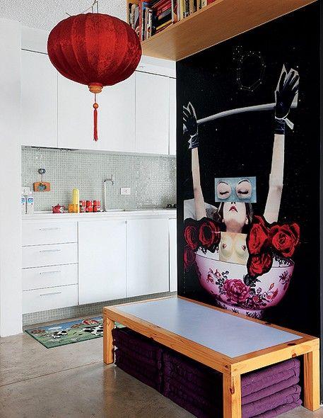 cozinha moderna e jovem