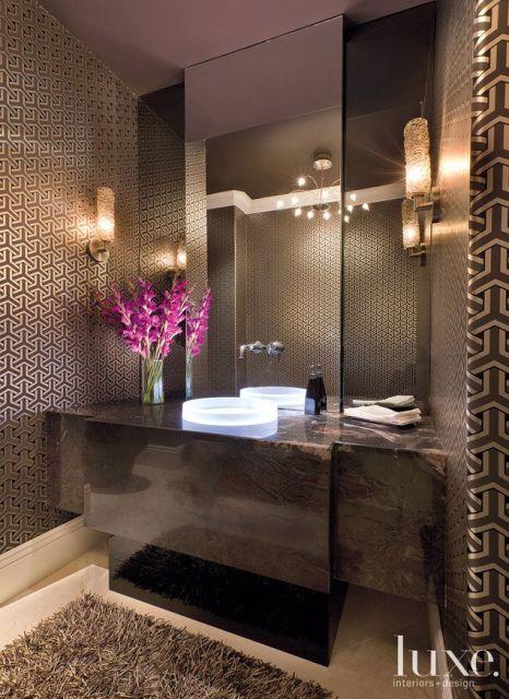 Lavabos modernos decora o e projetos for Gabinete para lavabo