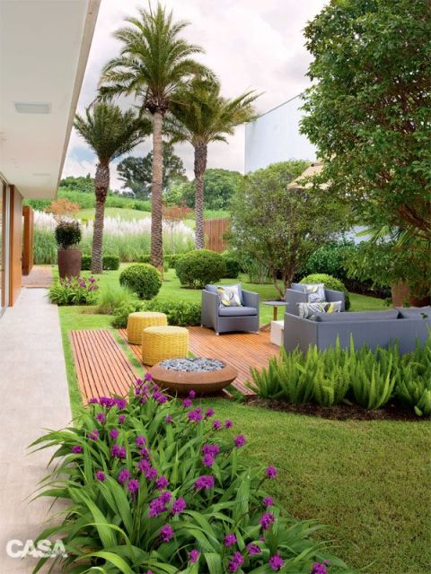 Modelos de jardins 50 inspira es para a rea externa for Decorar jardin pequeno frente casa