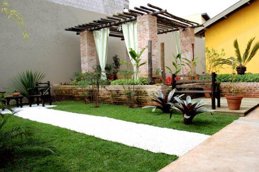 jardins quintal pequeno:MODELOS DE JARDINS: 50 inspirações para a área externa!