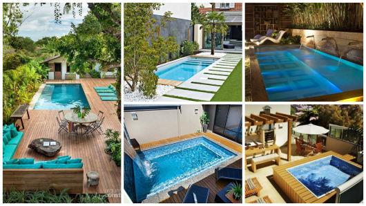 piscinas com deck