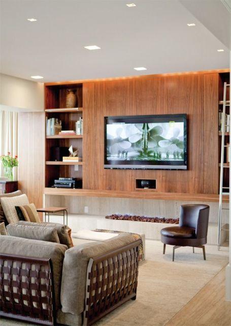 Sala De Tv Tipo Home ~ MODELOS DE PAINEL PARA TV Tipos e Fotos
