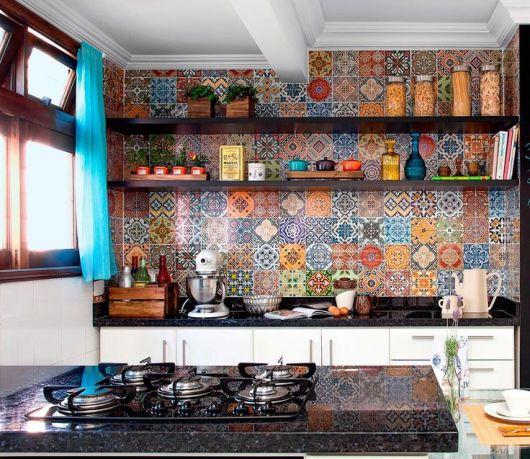 cozinha colorida
