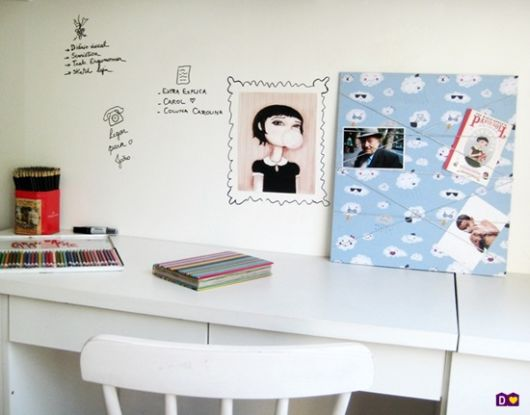 móveis brancos home office