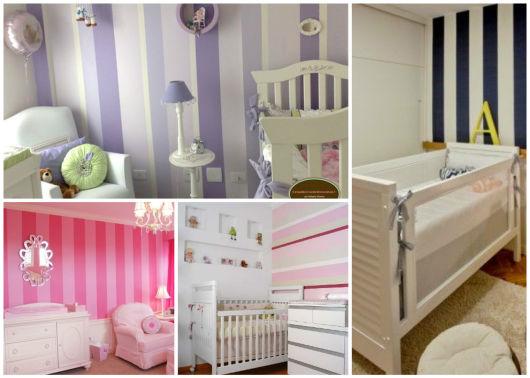 parede decorada quarto de bebê