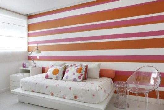 decoração rosa e laranja