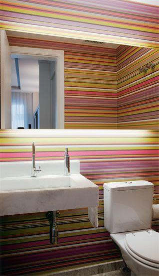 parede decorada lavabo