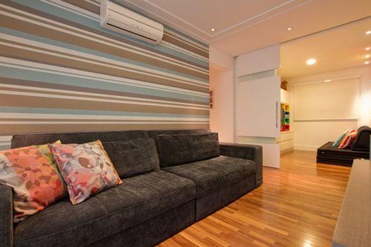 piso de madeira sala