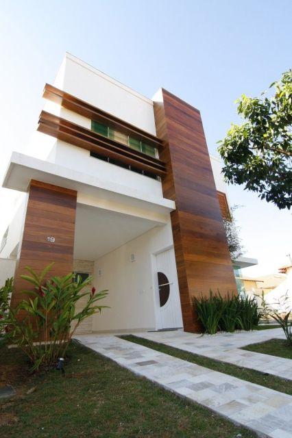 casa fachada madeira