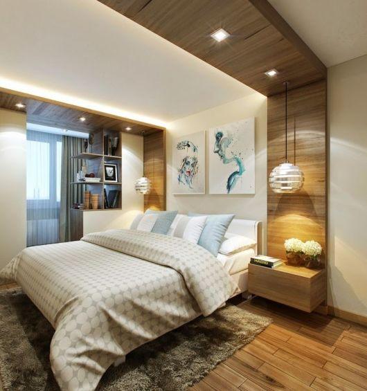 QUARTO DE CASAL MODERNO revestimentos e decorações! ~ Quarto Casal Moderno Pequeno