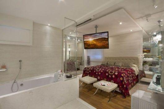 QUARTOS DE LUXO decorações inspiradora -> Banheiro Pequeno De Vidro Dentro Do Quarto
