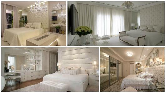 quarto branco decorado