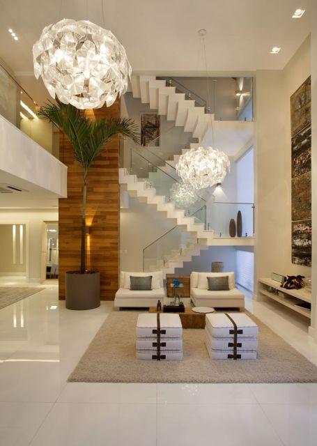 Fotos De Escadas Na Sala De Jantar ~ SALA COM ESCADA 30 ideias para decorar!
