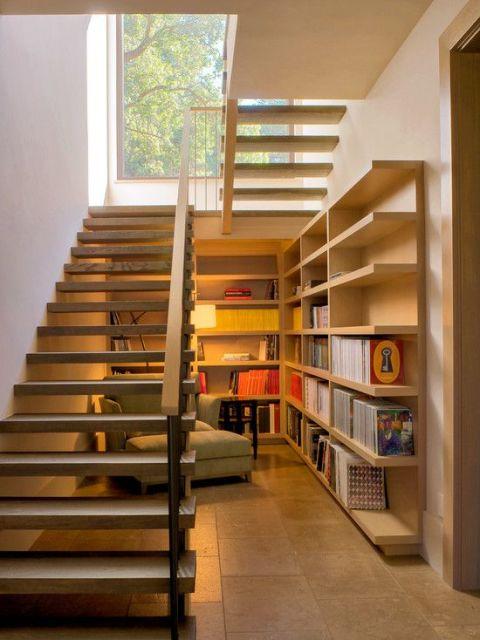 sala com escada : SALA COM ESCADA: 30 ideias para decorar!