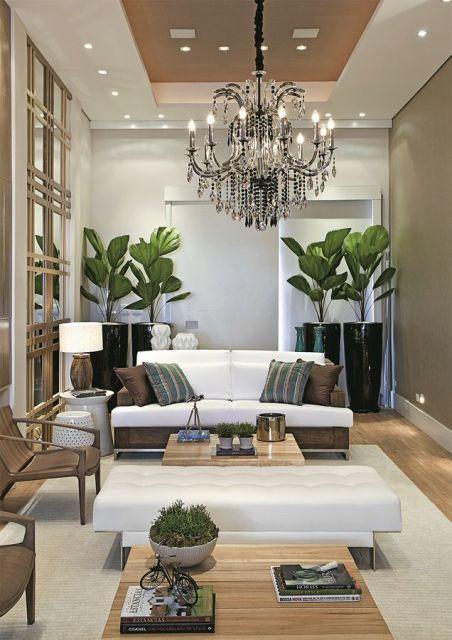 Sala de estar de luxo