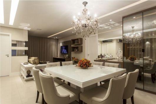 Sala de jantar moderna 50 fotos e como decorar - Armarios para sala de estar ...