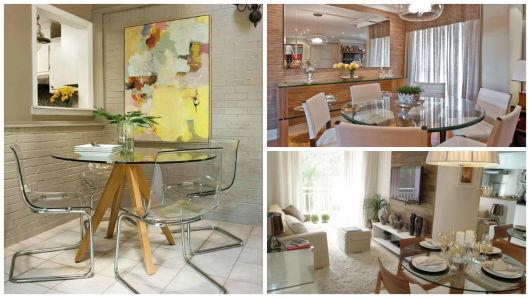 Sala de jantar moderna 50 fotos e como decorar - Mesas redondas modernas ...
