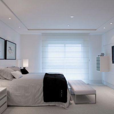 decoração clean quarto casal